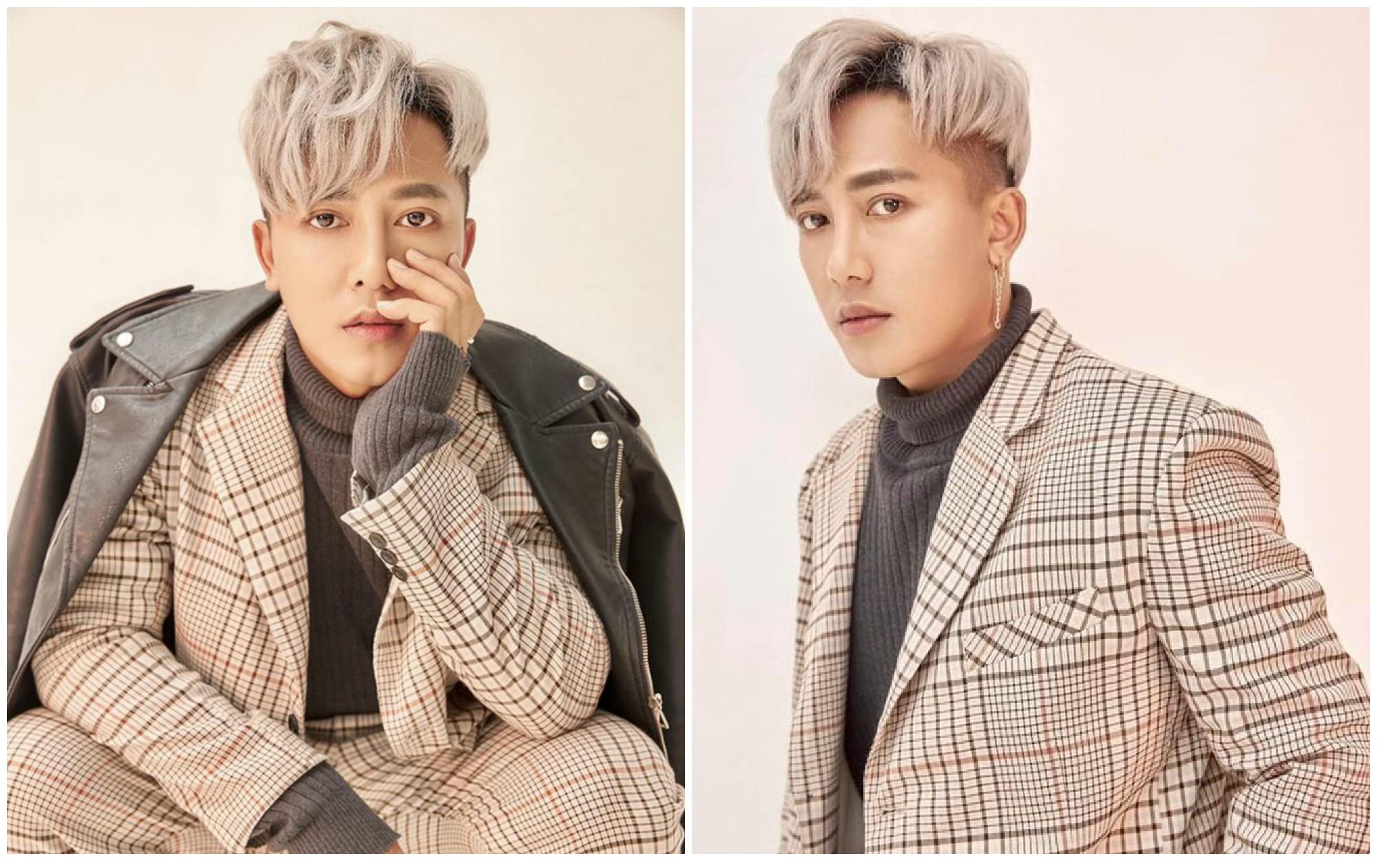Kiểu tóc của Châu Khải Phong comma hair nhuộm bạch kim