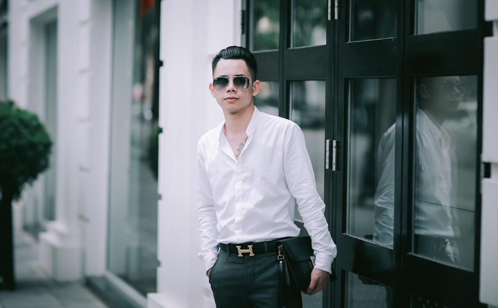 Kiểu tóc Lê Bảo Bình Slicked Back