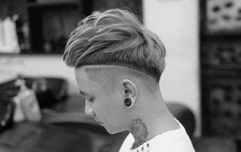 Kiểu tóc Mohican Dài + textured