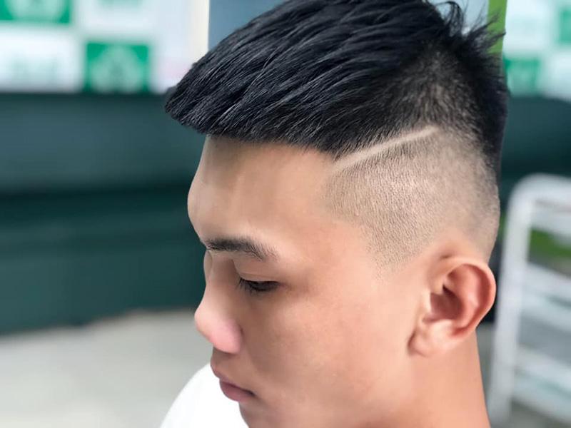 Kiểu tóc Mohican Ngắn + kẻ Line