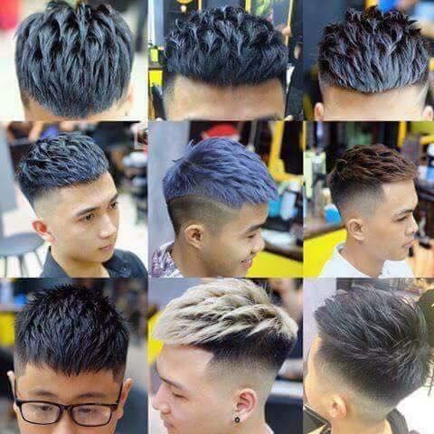 Kiểu tóc Mohican vuốt Textured