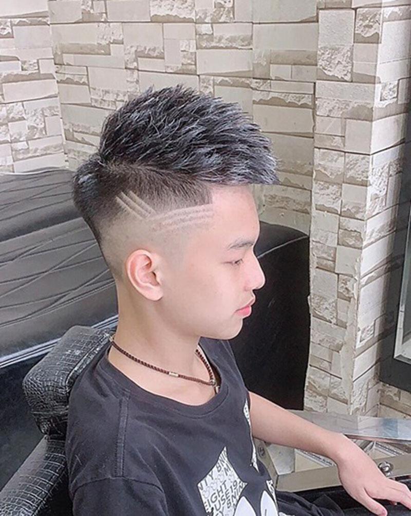 Kiểu tóc Mohican tóc mỏng