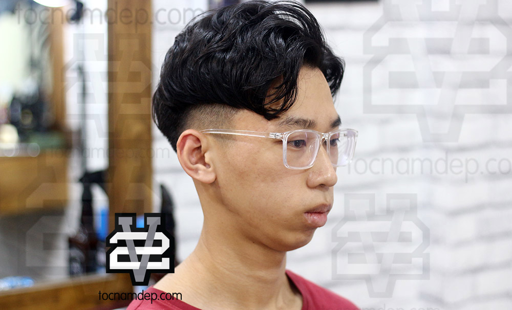 Kiểu tóc nam 6/4 uốn phồng