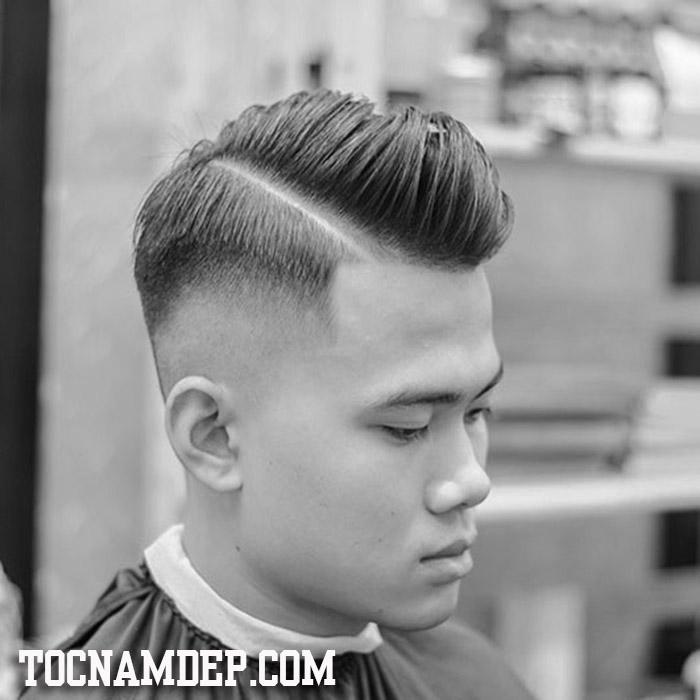 Kiểu tóc Undercut vuốt ngược