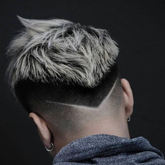 Kiểu kẻ vạch tóc nam đẹp 2019