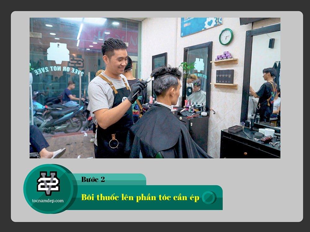 dịch vụ ép side tóc mai nam hiệu quả